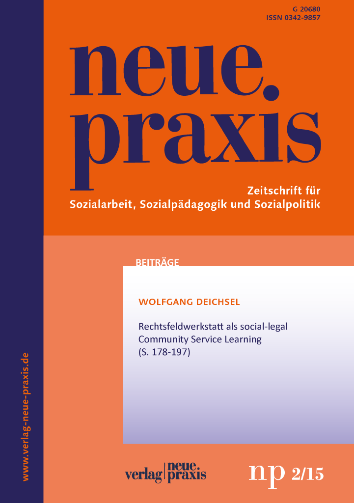 np 2/15: Rechtsfeldwerkstatt als social-legal Community Service Learning